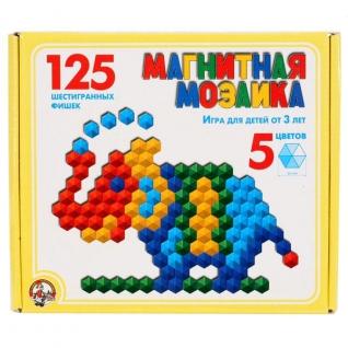 Магнитная мозаика, 125 элементов, 5 цветов Десятое Королевство