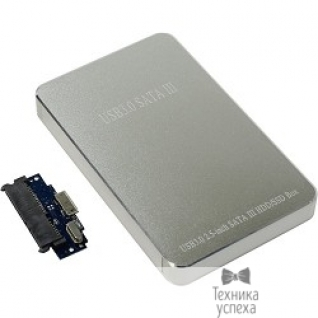 "Orient ORIENT 2568U3 Внешний контейнер, USB 3.0 для 2.5"" HDD/SSD SATA 6Gb/s (ASM1153E), алюминий, серебристый цвет, установка HDD без отвертки"