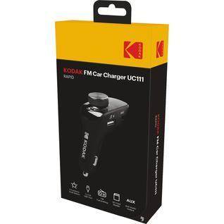 Автомобильное зарядное устройство с FM-трансмиттером KODAK UC111(USB, AUX, U-disk, Quick Charge 3.0)