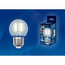 Uniel LED-G45-6W/WW/E27/FR PLS02WH картон