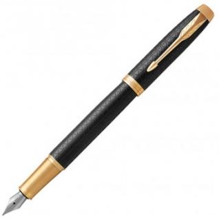 Ручка перьевая PARKER IM PREMIUM BLACK GT 1 син картр 0,8мм 1931646