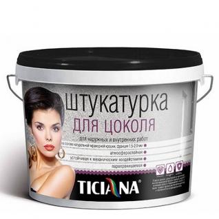 Штукатурка для цоколя Ticiana млечный путь, 0,8 л.