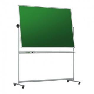 Доска меловая - магнитная-зелен/маркерная-белая 100х150 вращ. мобильнусил