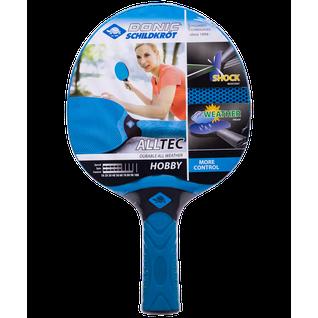 Ракетка для настольного тенниса Donic Alltec Hobby, всепогодная, синий/черный