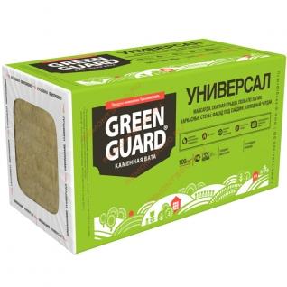 ТЕХНОНИКОЛЬ GreenGuard утеплитель 1200х600х50мм (8шт=5,76м2=0,288м3) / ТЕХНОНИКОЛЬ GreenGuard Универсал каменная вата 1200х600х50мм (5,76м2=0,288м3) (упак. 8шт.) Технониколь