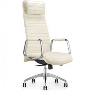 Кресло BN_Fc_Руководителя Echair-528 ML кожа белая, алюминий
