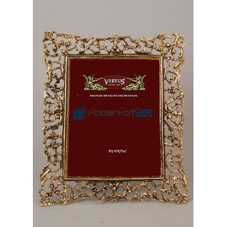 """Фоторамка из бронзы """"Венеция"""" гранд, цвет золотой (размер фото 20х25)"""