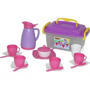 """Набор детской посуды """"Алиса"""" на 4 персоны (в контейнере) Полесье"""