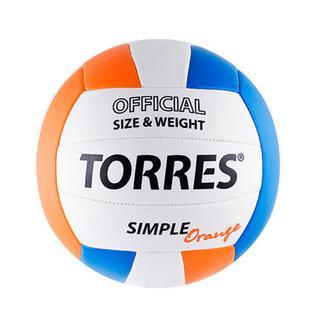Мяч в/б Torres Simple Orange V30125, р.5, синт.кожа