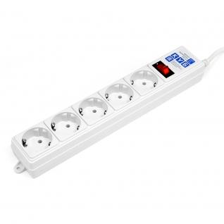 Фильтр-удлинитель Power Cube B 1,9 м 5 розеток (белый) 10А/2,2кВт (Откр. упаковка)