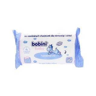 Салфетки детские влажные гипоалергенные BOBINI BABY 0+ ДЕЛИКАТНЫЕ, 60 шт