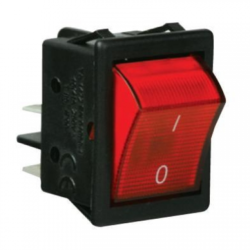Выключатель с подсветкой красный A14K Емас 900743