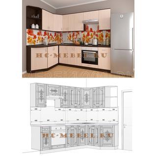 Кухня БЕЛАРУСЬ-7.2 модульная угловая, правая, левая