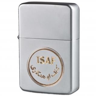 Made in Germany Зажигалка Z-Plus газовая с эмблемой ISAF