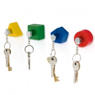 Настенные держатели для ключей с брелками Shapes 4 шт. разноцветные