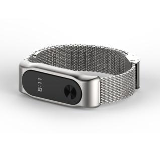 Металлический браслет для Xiaomi Mi Band 3 MiJobs (черный)