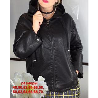 Женская кожаная куртка очень большого размера р.48-70