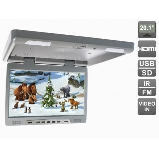 """Потолочный автомобильный монитор 20,1"""" с HDMI и встроенным медиаплеером AVIS Electronics AVS2020MPP (серый)"""