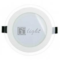 GSlight Встраиваемый светильник R160WH 12W Day White СТЕКЛЯННАЯ ПАНЕЛЬ