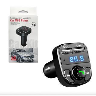Автомобильный FM модулятор с дисплеем CAR X8 (TF Card, 2USB) MR