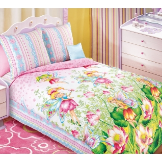 Комплект детского постельного белья 1,5-спальный Волшебный мир, бязь