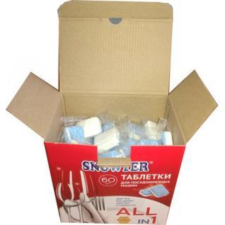 Таблетки для посудомоечных машин SNOWTER 60шт/уп.
