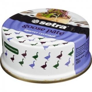 Мясные консервы Паштет Setra гусиный,100гр