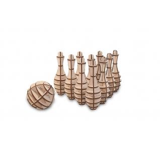 Сборные модели EWA Деревянный конструктор 3D MINI BOWLING (Мини боулинг)