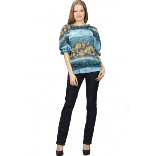 Шифоновая блуза кор. рукав 48 размер