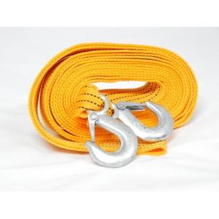 Трос буксировочный тканая лента 4м 3,5т с крюками Forsage