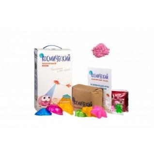 Космический песок Розовый в коробке 3кг+ песочница + формочки