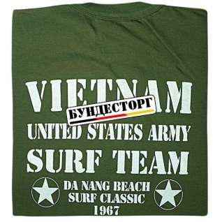 Футболка Vietnam Surf Team, цвет оливковый
