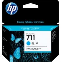 Оригинальный картридж CZ134A №711 для принтеров HP Designjet T120/520, голубой, струйный, 29 мл 8597-01 Hewlett-Packard