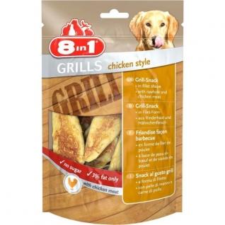 8in1 8in1 Grills Chicken гриллс снеки в виде филе курицы из говяжьей кожи и куриного мяса 80 г