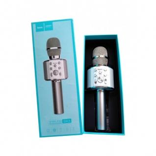 Беспроводной караоке микрофон HOCO BK3 silver