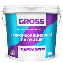 Гидроизоляционное полимерное покрытие Gross Гидроакрил, 13 кг