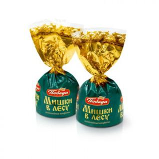 Конфеты шоколадные Мишки в лесу Победа вкуса, 2 кг