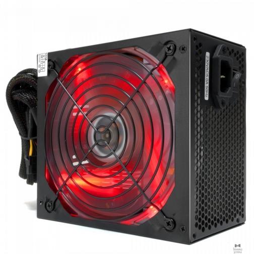 Crown CROWN Блок питания CM-PS650W PLUS (ATX 650W, EMI/CE, 20+4in 400mm, 140mm red LED FAN, SATA*4, IDE*4, FDD*1, 4+4pin, 6pin PCI-E*1, кабель питания 1.2м, пленка) 36987683