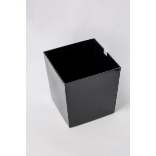 Кашпо пластиковое черное