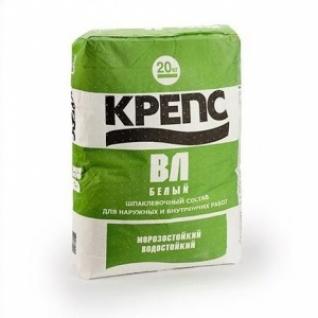 Шпаклевка Крепс ВЛ белая /20,0 кг/ (56 шт на поддоне)