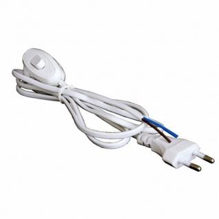 Шнур сетевой 1.8м с выключателем Белый Rexant без розетки 2.5A