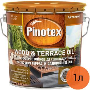 ПИНОТЕКС масло для террас и садовой мебели (1л) / PINOTEX Wood & Terrace Oil масло для террас (1л) Пинотекс