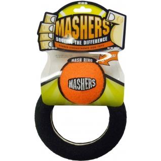 """R2P R2P игрушка для собак Masher """"Кольцо с мячиком"""" вспененная резина с покрытием теннисного мяча 15 см"""