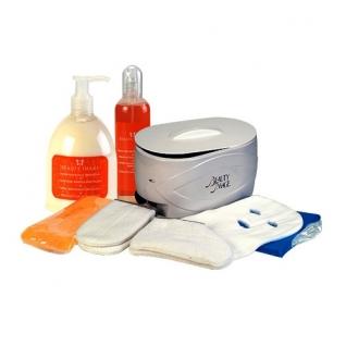 Beauty Image Комплект для парафинотерапии: ванночка-нагреватель, парафин (персик), термоварежки, термоноски, защи