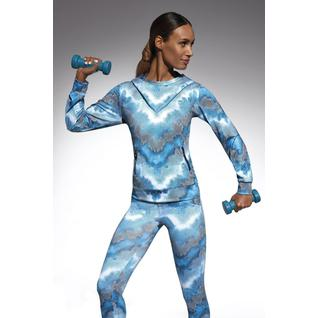Толстовка с капюшоном для фитнеса свободного кроя Energy голубой S Energy blouse Bas Bleu