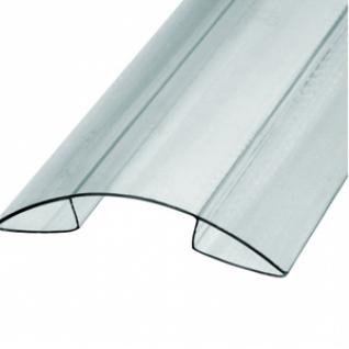 Профиль К коньковый для поликарбоната 16мм (6м) / Профиль К коньковый прозрачный для поликарбоната 16мм (6м)