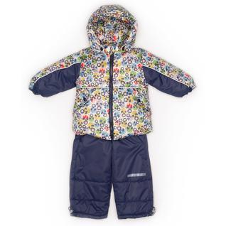 Комплект MalekBaby (Куртка + Полукомбинезон), Без опушки, №297/1 (Матрешки+синий) арт.409ШМ