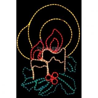 """Neon-Night Фигура """"Две свечи"""", размер 100*75 см NEON-NIGHT"""