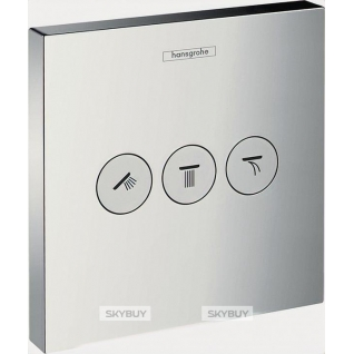 Переключатель потоков Hansgrohe ShowerSelect Trio/Quattro 15764000 на три потребителя