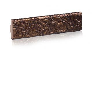 Декоративный кожаный молдинг ЭЛЕГАНТ Foil 32 мм (сталь, золото, шоколад)